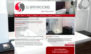 SJ Bathrooms and Kitchens website image